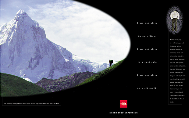 The North Face print ad